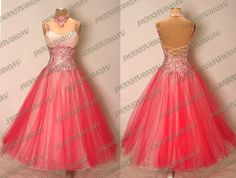 NEW PASSION PINK STIFF NET BALLROOM DANCE COMPETITION DRESS :WB2948 #Swanstudioau