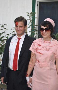 Jackie-O and JFK  sc 1 st  Pinterest & http://amandafrenette.weebly.com/ DIY Jackie O. and JFK Halloween ...