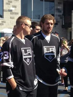 Captain Dustin Brown and Anze Kopitar  Kings Jerseys Available Here with Free Shipping --> www.thegoodzonline.com