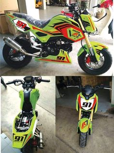 2017 Honda Grom MSX 125 HRC Race Bike / Motorcycle - Performance Mods / Parts: Exhaust, Ohlins Suspension, Track Plastics & Bodywork Grom Bike, Honda Grom, 125 Motorcycle, Mini Bike, Street Bikes, Performance Parts, Custom Paint, Cars And Motorcycles, Motorbikes