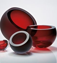 anna torfs decorative accessory bowl ruby red harlequin london