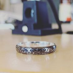 I whipped up this wedding ring for a last minute wedding that's taking place next week. It's incredible the different look you can achieve by oxidising a ring.