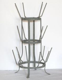Rustic Industrial French Farmhouse 16 Arm Countertop Bottle Dryer Tree – Glory & Grace... At Home