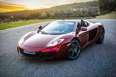 Enjoy the remaining months of warm weather by burning up the pavement in the new McLaren MP4-12C Spider ($265,750). Featuring a one-piece molded chassis, it weighs just 88 lbs more than its hardtop sibling, and features a retractable hard top, an electronically-controlled rear windscreen, a passive roll over protection system, and, of course, a 616 bhp, 3.8L V8 twin turbo engine paired with a 7 Speed SSG dual-clutch transmission that can launch you from 0-62 in just 3.1 seconds, with a top…