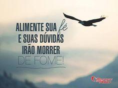 Alimente sua fé e suas dúvidas irão morrer de fome! #fe #duvida #morrer #fome