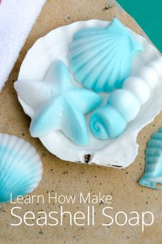 Learn How to Make Seashell Swirl Soaps with this video lesson featuring the simple melt and pour method!