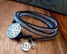 Marathon Crystal Triple Wrap Bracelet