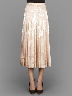 Christopher Kane jacquard long pleat skirt with concealed back zip closure #christopherkane