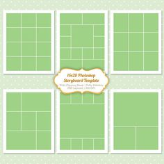Storyboard Photoshop Templates 16x20 Digital by PopuriDesign, $6.00