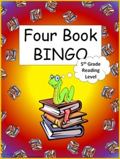 Four Book BINGO (5th grade)- Independent Reading Activity- - This packet consist of 9 boards. 6 book specific boards and 3 category boards.     -This is a reading activity with a 'connect four' type of twist. Basically, the students read any four books in a row (horizontally, vertically, or diagonal) to complete the game board.