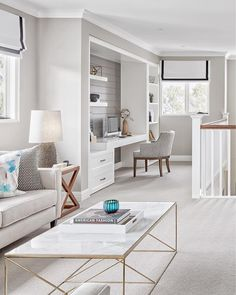 home office nook. I might start saying it anyway so I sound international image via snap from their stunning Bayville display home. Furniture, Built In Desk, Home Office Furniture, Home, Hamptons Style Homes, House Interior, Home Office Design, Display Homes, Office Design