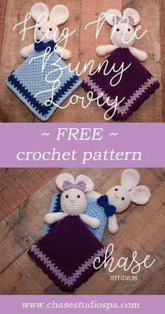 Hug Me Bunny Lovey Free Crochet Pattern Easter Boy Girl Kid Baby Gift Red Heart - Everything For Babies Crochet Lovey Free Pattern, Easter Crochet Patterns, Crochet Gratis, Baby Afghan Crochet, Crochet Bunny, Baby Afghans, Baby Patterns, Crochet Toys, Free Crochet
