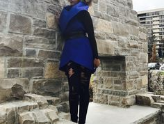 My favourite colour. Royal blue. #womensfashion #vest #cloak