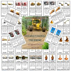 Free Montessori Inspired Printables for emembers only. Crane Construction, Construction Theme, Free Preschool, Preschool Printables, Preschool Ideas, Surfer Kids, Montessori Homeschool, Picture Cards, Printable Cards