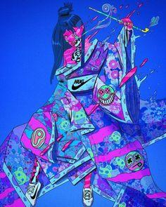 As surreais e psicodélicas ilustrações cyberpunk de Nick Sullo