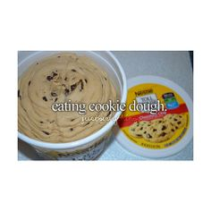eating cookie dough