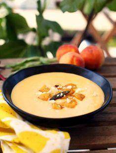 Őszibarack krémleves főzés nélkül | Street Kitchen