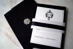 Elegant Black and White Wedding Invitation for a Black and White Themed Wedding!