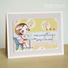 Digital Stamp -- Retro Girl 03 (Birdie Brown)