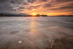 sundown at lake staffelsee by Robert Freytag on Alps, Celestial, Sunset, Beach, Water, Outdoor, Gripe Water, Outdoors, The Beach