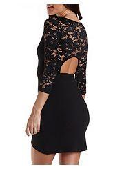 Lace Bodycon Tulip Dress