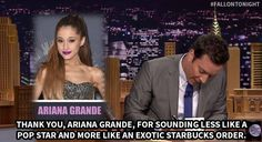 The tonight show starring Jimmy Fallon - thank you notes Ariana Grande