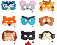 Kids Owl Mask Owl Costume Bird Felt Mask Kids by BabyWhatKnots
