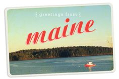 What I did on my Summer Vacation |Moomah the Magazine - maine - Vintage Postcards
