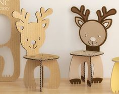 KIDS' TABLE and animals CHAIRS set - cnc template cutting file - wooden table - aninimals chair - laser cut - cutting - template plants Cardboard Furniture, Cardboard Crafts, Animal Set, Plasma Cnc, Cnc Table, Geometric Origami, Cnc Router Machine, Wooden Steps, Cnc Wood