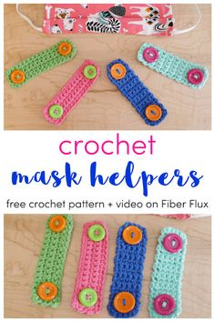 Crochet accessories 131237776630451370 - Crochet Mask Helpers Two Ways, Free Crochet Pattern + Video on Fiber Flux Source by Crochet Stitches, Crochet Hooks, Crochet Patterns, Knitting Patterns, Sewing Patterns Free, Pattern Sewing, Crochet Video, Free Crochet, Knit Crochet