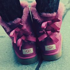 pink uggs with bows!