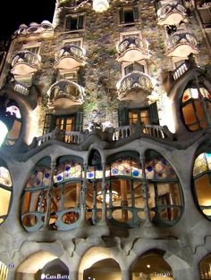 Casa Batlló (Barcelona, Catalonia, Spain) - restored by Antoni Gaudí and Josep Maria Jujol, built in the year 1877 and remodelled in the years 1905–1907.