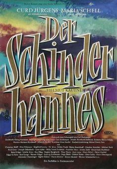 Heinz Schwabe, film poster Der Schinderhannes mit Curd Jürgens, 1958