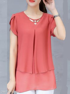 In search of tops for women? Callabuy offers cute tops and fashion tops online with season's hottest trends. Trendy Tops, Cute Tops, Women's Tops, Blouse Styles, Blouse Designs, Trendy Outfits, Fashion Outfits, Cheap Fashion, Affordable Fashion