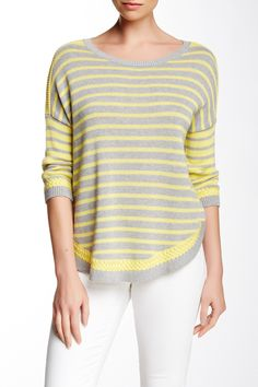 Basket Weave Shirttail Sweater by Autumn Cashmere on @HauteLook