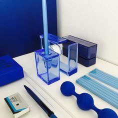 Blue office! #lexon #dreamtools #tapedispenser #stapler #deskstore #blue