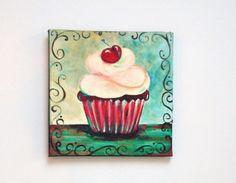 Superbe Red Velvet Cupcake Magnet 4 X 4 Inch Kitchen Decor By AdoraArt, $7.50