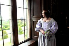 Looking out of Chirk Castle's Long Gallery window