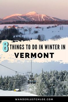 With fabulous skiing, sleigh rides, and lively festivals, Vermont really is a winter wonderland! It's time for a rundown of the best things to do in Vermont in winter. Find out all about the most fun activities, where to ski and where to go shopping. Plus, if you're looking for magical winter accommodation, this guide has plenty of great options of hotels in Vermont. Start planning your winter getaway to New England now! #Vermont #NewEngland #USATravel #VermontWinter #SkiVermont