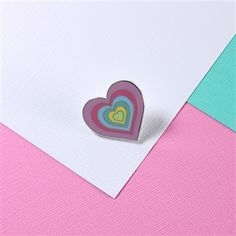 Rainbow Heart Enamel Pin from Punky Pins. #punkypins #pingame #rainbow