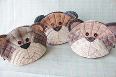 Teddy Bear pouch - Etsy by STORY QUILT, via Flickr