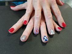 British and Scottish Flag Nails by Jazzy