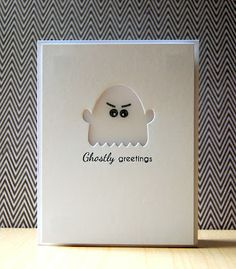 Ghostly Greetings Card by Cristina Kowalczyk for Papertrey Ink (August 2012)
