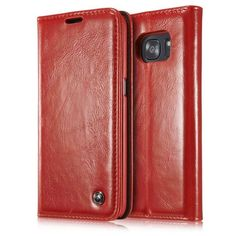 Luxury Brand Flip Cover For Samsung Galaxy S7 / S7 Edge Case Genuine Real Leather Wallet Card Holder Original Phone Case Girl