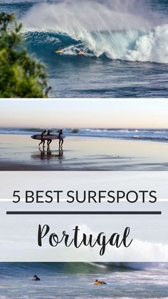 Adventurous holidays: the best surf spots in Portugal Learn everything about one of Europe's best surf spots: Portugal! Here you find out everything about the most impressive surf spots of Portugal Best Surfing Spots, Surfing Tips, Surfing Destinations, Hawaii Surf, Road Trip Adventure, Surf Trip, Surf Travel, Travel Tips, Portugal Travel