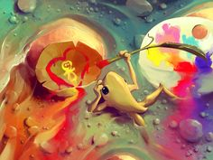 Cute and Creative Photoshop Illustrations by Cyril Rolando - Mayhem & Muse Art And Illustration, Illustrations, Cyril Rolando, Creative Photoshop, Fantasy Paintings, Digital Paintings, Design Graphique, Cool Art, Art Drawings