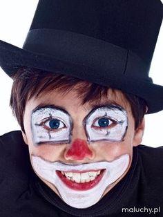 Malowanie twarzy - wzory i pomysły - Clown - zdjęcia - galeria « maluchy.pl