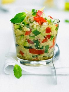 taboulet for summer Quinoa, Cooking Recipes, Healthy Recipes, Healthy Food, Everyday Food, Fruit Salad, Guacamole, Salads, Eat