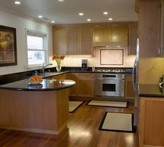 G Shaped Kitchen Layout g shaped kitchen. so similar to our layout except we have a door