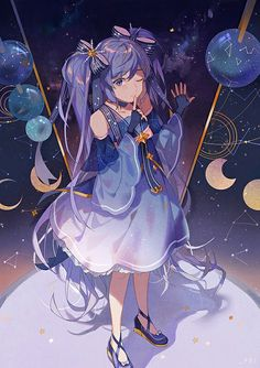 Cute beatiful sweet anime girl